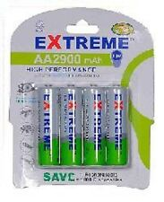 EXTREME* 4 x 2900 MAH AA RECHARGEABLE BATTERIES-NI-MH