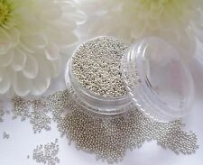 Tiny 5ml Silver Caviar Beads Metal Balls Gem Pot Round Wedding Nail Art Craft