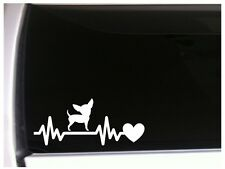 "Chihuahua Heartbeat Lifeline vinyl car decal 7.5"" *M38 pets puppy terrier"