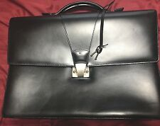 Cartier Leather Brief Case-Authentic