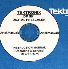 Tektronix DP501 Digital Prescaler Ops & Service Manual