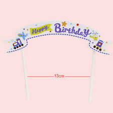 Happy Birthday Cake Cupcake Bunting Banner Flag Food Topper Shower Party PicksSL