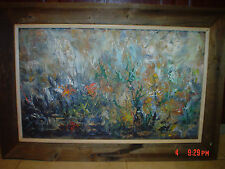 H LLOYD? WESTON Listed ABSTRACT FLOWER FLORAL LANDSCAPE STILL LIFE Oil Painting