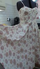 Vintage Laura Ashley, Rare, Sundress. Summer 1950s style. Size 16