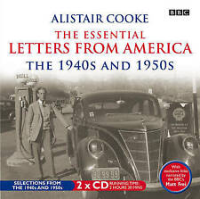 ALISTAIR COOKE ESSENTIAL LETTERS FROM AMERICA BBC AUDIO 1940s & 1950s NEW/SEALED