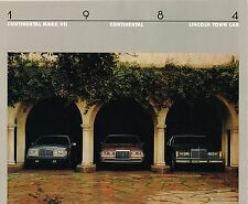 1984 LINCOLN Brochure / Catalog : CONTINENTAL,MARK VII,7,LSC,TOWN CAR,