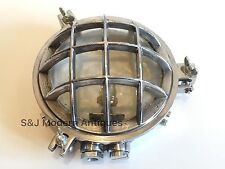 Industrial Ceiling Wall Light Bulkhead Antique Retro Vintage Aluminium