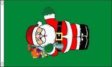 Santa avec Cadeaux Drapeau 12.7cmx7.6cm Noël Célébration Décoration De Noël