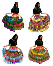 2 mixte tribal gypsy belly dance sari peasant boho jupe jupes banjara folk