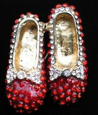 WIZARD OF OZ DOROTHY WAND RUBY RED SHOES SHOE SLIPPERS SLIPPER PIN BROOCH 1.5""
