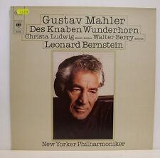 """GUSTAV MAHLER DES KNABEN WUNDERHORN LUDWIG BERRY LEONARD BERNSTEIN 12"""" LP (e225)"""