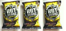 """HOT HEADZ JALAPENO CHEDDAR CHIPS"" 3 x 57g bags - Medium Hot Chilli Crisps"