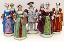 Antique Sitzendorf Dresden Henry VIII & 6 Wives Porcelain Figurine Early 1900s