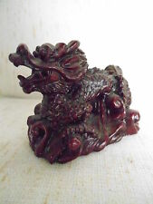 CHINESE RED POLY RESIN DRAGON #3