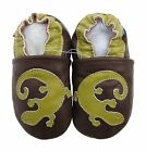 carozoo gecko brown 12-18m soft sole sole leather baby shoes
