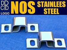 PR NOS 1940s DODGE DPCD HOOD HINGE BRACKETS ◆ STAINLESS STEEL CHROME SHINE TRUCK