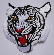 WHITE TIGER PANTHERA TIGRIS RACING Embroidered Iron on Patch Free Shipping