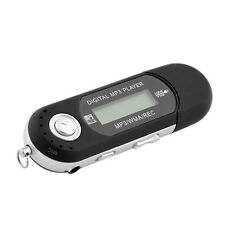 8GB USB Flash Drive LCD Screen FM Radio Slim Black WMA MP3 Digital Music Player