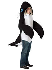 Adult Killer Whale Fancy Dress Costume Orca Animal Mammal Fish Mens Womens BN