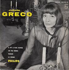 45TRS VINYL 7'' / FRENCH EP JULIETTE GRECO / IL N'Y A PLUS D'APRES + 3