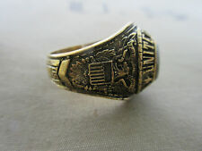 US Army Globe & Eagle Marine Corps USMC Insignia Ring NAM PX Sterling Vietnam 70