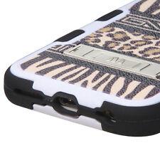 Tuf HYBRID Rubber Hard Case Cover Zebra Cheetah Leopard For Apple iPhone 6S PLUS