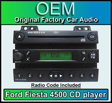 Ford 4500 CD player, Ford Fiesta car stereo Black radio supplied with code