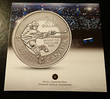 2013 $20 for $20 Canada Coin Series - Hockey Silver Coin RCM  Mint