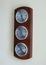Wall Weather Station Barometer Thermometer Hygrometer Silver Dials New