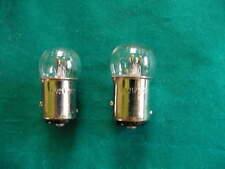 2 Lucas small globe LIGHT BULBS 6 Volt 21 Watt stop n tail rearlight+brake bulbs
