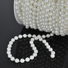 Hot 20M 6mm Faux Imitation Plastic Round Pearl Beads string