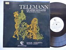 TELEMANN Quatre sonates  QUATUOR MAXENCE LARRIEU Jalons de la musique JM020