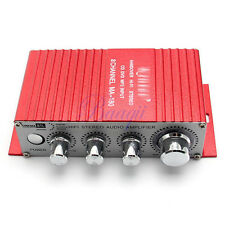 2 Channel MINI HiFi Audio Stereo Amplifier For Car Motorcycle Boat USB Port