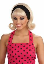 50's Blonde Flip Wig with Headband and Bangs