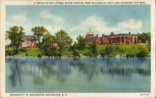 Postcard NY Univ of Rochester River Campus College of Arts Sciences for Men 40s