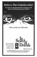 En Busca De Dracula Cartel 01 A3 Caja Lona Impresión