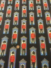100% Cotton Quilt Craft Britannia Changing The Guard Black Nutex By Half Metre