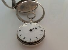 Orlo FUSEE SILVER pocket watch personalizzato per terreni Cheshire proprietario