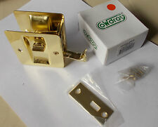 Cavity Sliding Door Lock  Polished Brass Privacy for 35MM doors  free post