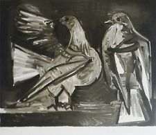 PABLO PICASSO Deux pigeons 2 Doves signed LITHOGRAPH Marina Picasso Estate Coll.
