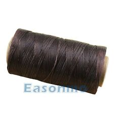 Dark Coffee 260m/284yd Spool 1mm Sewing Leather Waxing Waxed Thread Leathercraft