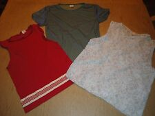 CALVIN KLEIN & DKNY LOT OF 3 DAINTY CAMISOLES/TEE SIZE M
