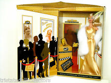 HOORAY FOR HOLLYWOOD BARBIE 2003 Golden Glamour w Fur Stole AVON EXC_56901_NRFB
