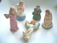 Vintage Paper Mache Made in Italy, japan, germany 9 pieces in all figurines