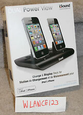 *NEW* iSound Dual Power View Charge & Display Dock for iPhone and iPod (30-Pin)