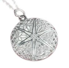 Pure 925 Sterling Silver Round Shape Locket Necklace (Pendant + Chain) #001