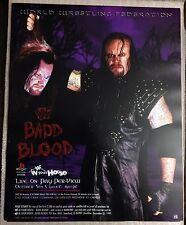 WWE WWF Vintage Bad Blood 1997 Poster 16x20 Undertaker