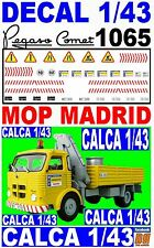 DECAL 1/43 PEGASO COMET 1065 MOP MADRID 1970 (07)