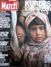 PARIS MATCH N° 2186 GUERRE DU GOLFE IRAK EXODE TRAGIQUE DES KURDES 1991