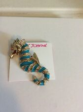 "Betsey Johnson Jewelry B11253-P01 ""Spring Pins"" Seahorse Brooch $45"